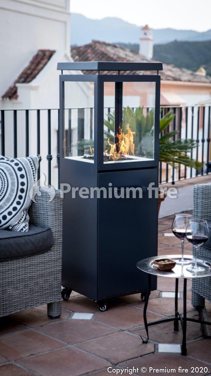 premium fire estufa exterior
