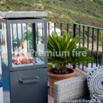premium fire estufa gas exterior